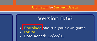 Image showing the location of the Download link on a typical hub entry.
