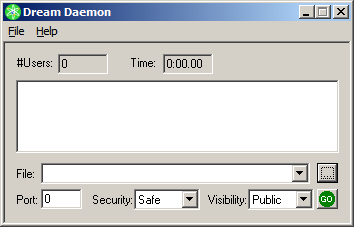 The Dream Daemon interface.